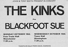 supporting The Kinks